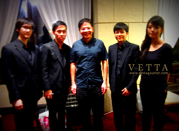 Vetta Quartet with Mr. Lawrence Wong, Minister of State for Education and Defence
