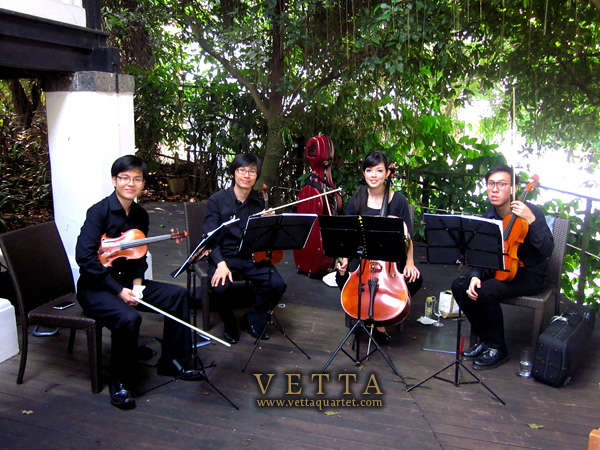 String Quartet at Flutes at the Fort, Singapore