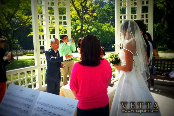 Wedding Solemnisation at Botanic Gardens Bandstand