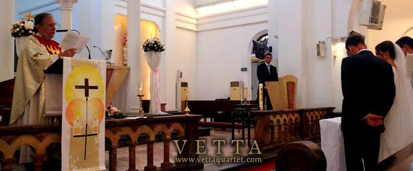 Wedding at Church of St Teresa