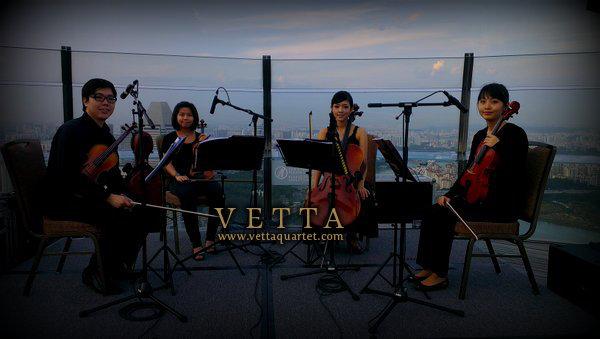 String Quartet for Corporate Reception Event at Marina Bay Sands Hotel Observation Deck