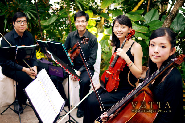 String Quartet at Singapore Wedding One Rochester