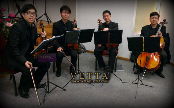String Quartet at Wedding, Assembly Of God, Bukit Batok Singapore