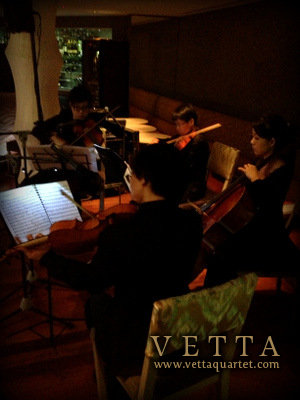 String Quartet at Barnacles Shangri La Rasa Sentosa Wedding