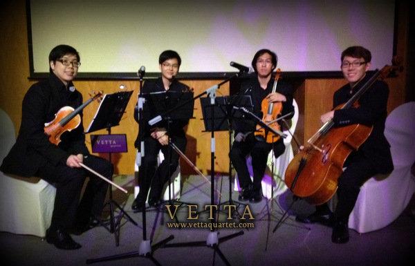 Wedding String Quartet at Ritz Carlton Singapore