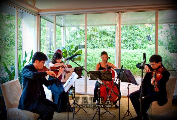 string quartet singapore wedding at ritz carlton