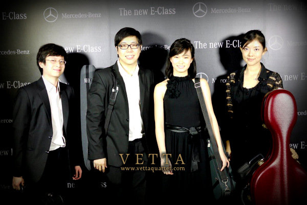 string quartet for mercedes benz e-class product launch