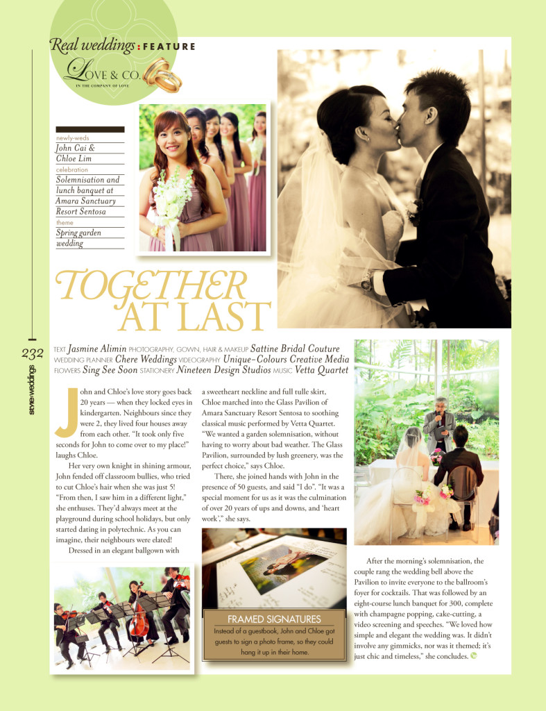 Amara Sanctuary Singapore Wedding Press Feature