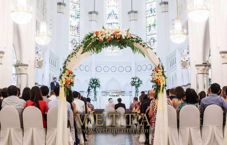 Wedding at CHIJMES - Quartet Performance Singapore