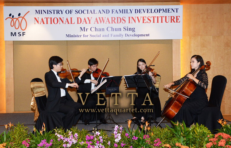 Performance Singapore - String Quartet - National Day Awards Investiture