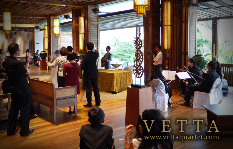 Singapore Quartet - Wedding Performance  - Rasa Sentosa