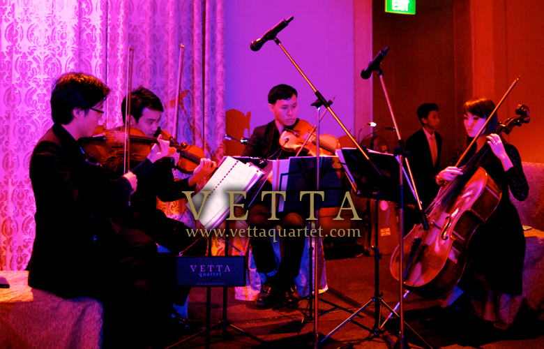 Fullerton Singapore Wedding String Quartet