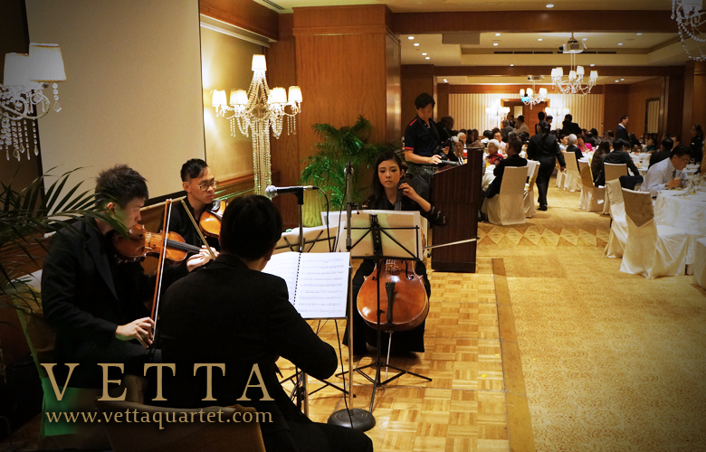 Wedding Anniversary at Regent Hotel - String Quartet Singapore