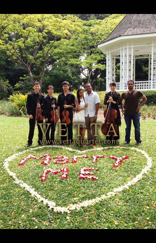Quartet Singapore Music - Botanic Gardens Wedding Proposal