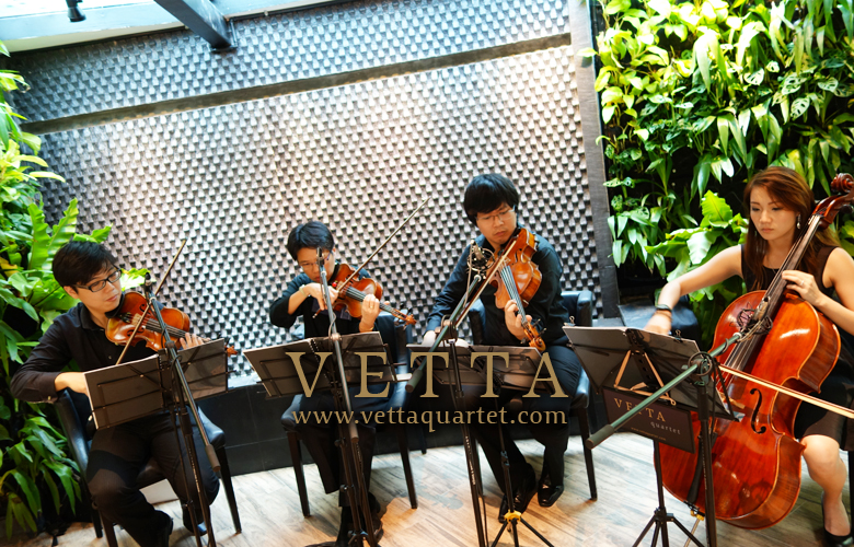 String Quartet at Botanic Gardens, The Halia