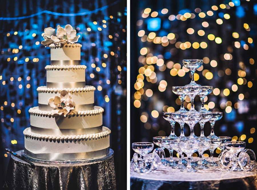 Wedding cakes with different shaped tiersen