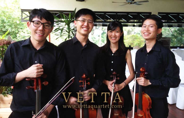 String Quartet for Wedding Solemnisation at Swiss Club