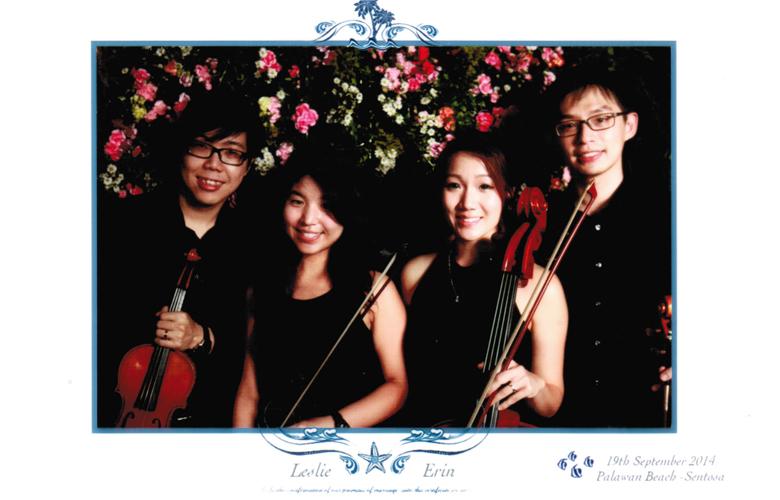 String Quartet for Wedding at Sentosa Palawan Beach