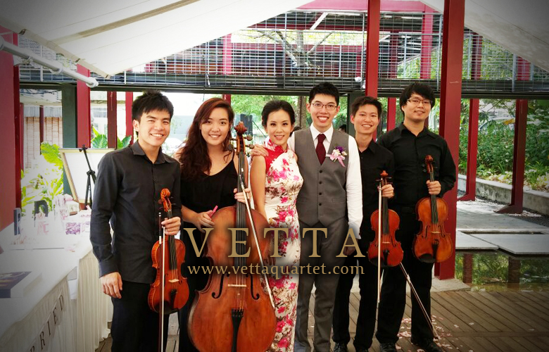String Quartet for Wedding Solemnisation at 22 Dempsey