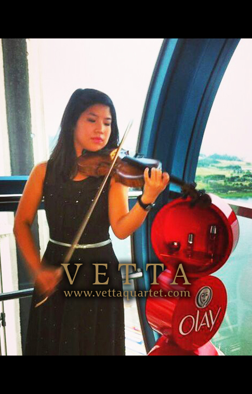 Violin Solo at Singapore Flyer