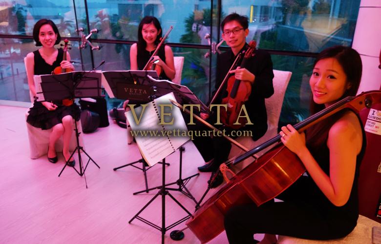 String Quartet for Wedding Solemnisation at One Degree 15 Marina Club