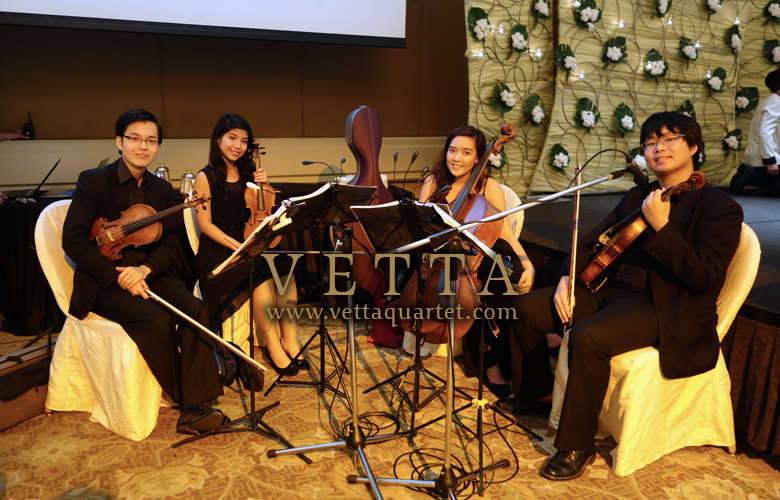 string quartet for wedding music at conrad centennial