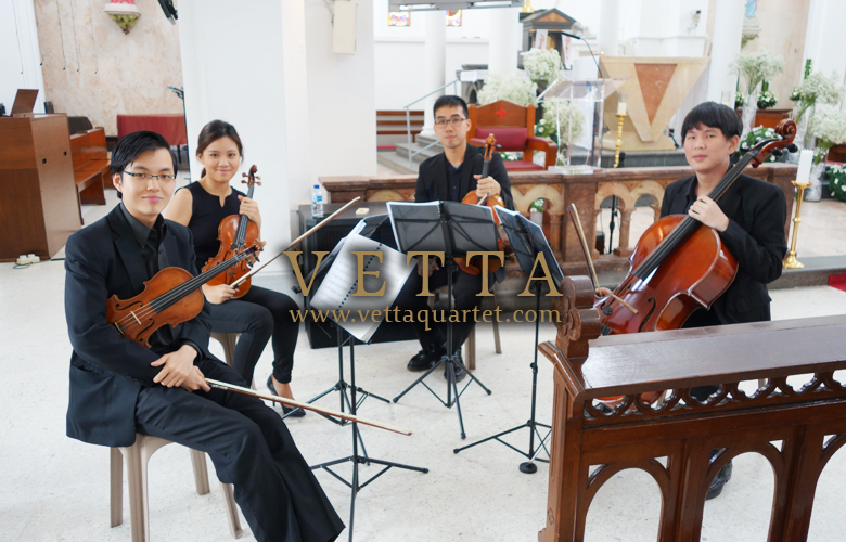 String Quartet for Wedding at Church of St Teresa