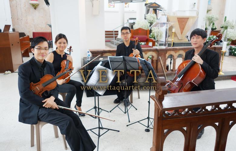 String Quartet for Wedding at Church of St Teresa