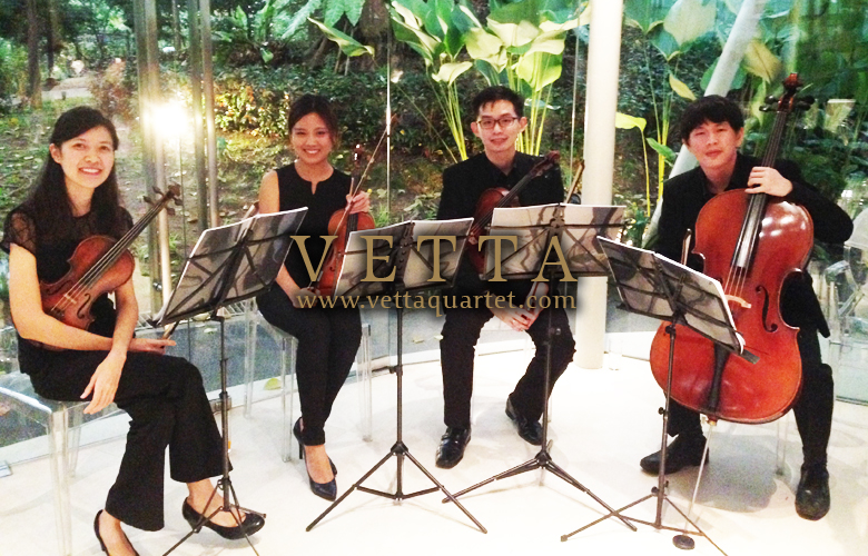 String Quartet for Wedding Solemnisation at Amara Sanctuary