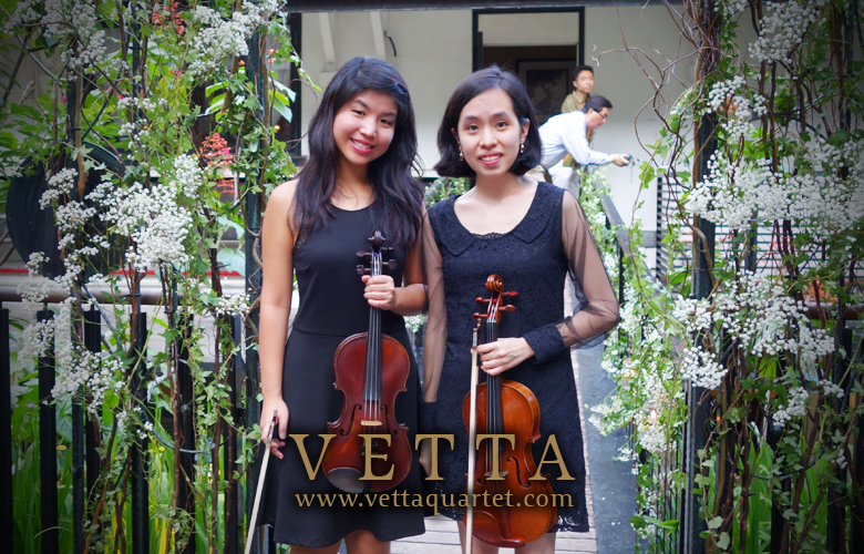 violin duo at Nosh Restaurant and Bar