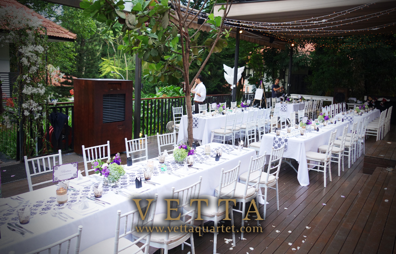 Pierre charlene wedding solemnisation at nosh restaurant for Au jardin restaurant singapore