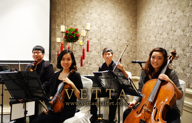 String Quartet for Wedding at Mandarin Oriental
