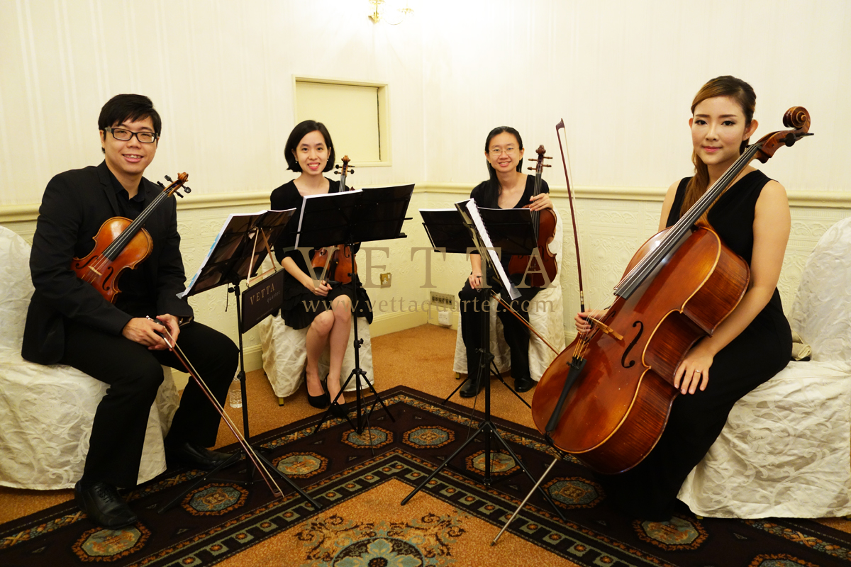 String Quartet for Event at Raffles Hotel