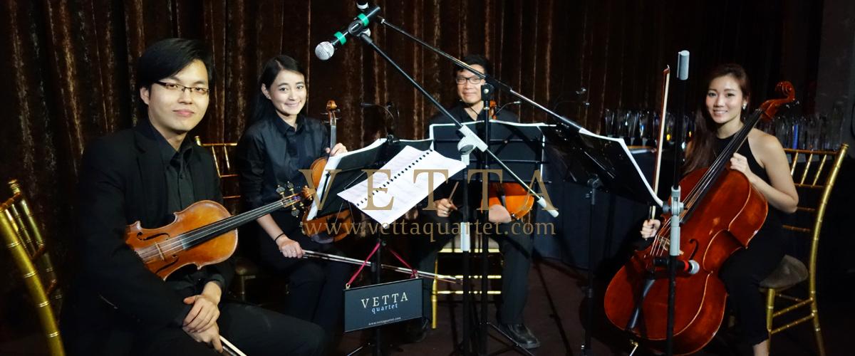 String Quartet for event at Mandarin Orchard