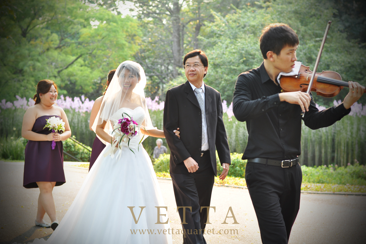 Violin Duo for Wedding Solemnisation at Bandstand