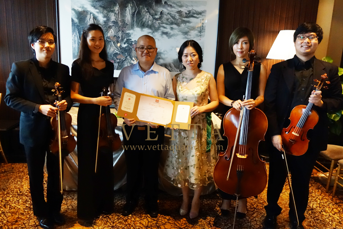 String Quartet for Wedding at Mandarin Orchard