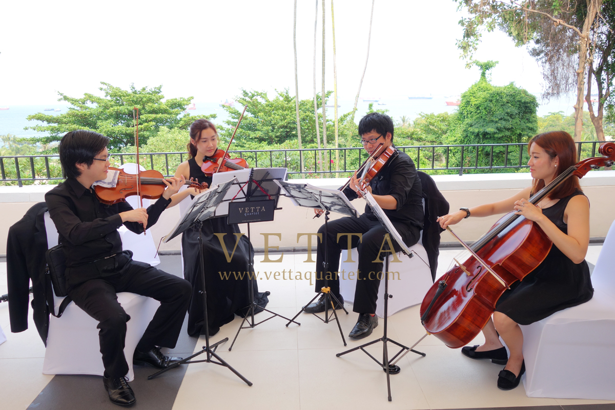 string quartet at sentosa resort & spa