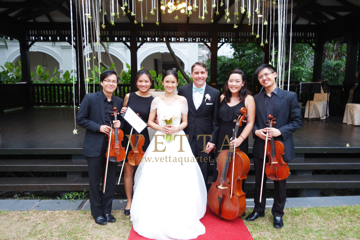 Singapore wedding at Raffles Hotel