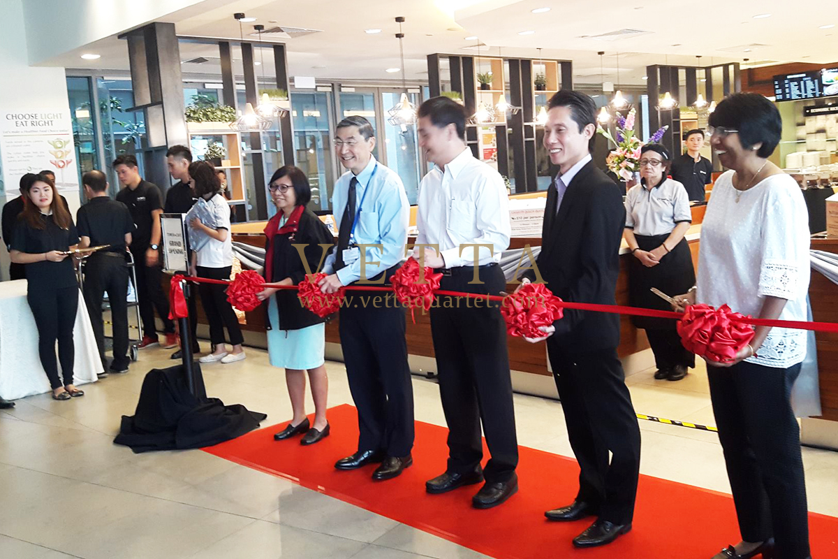 Opening Ceremony of NUHS Tower Cafe
