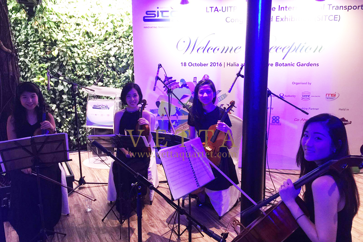 Esta Quartet for SITCE Welcome Reception at Villa Hallia, Botanic Gardens