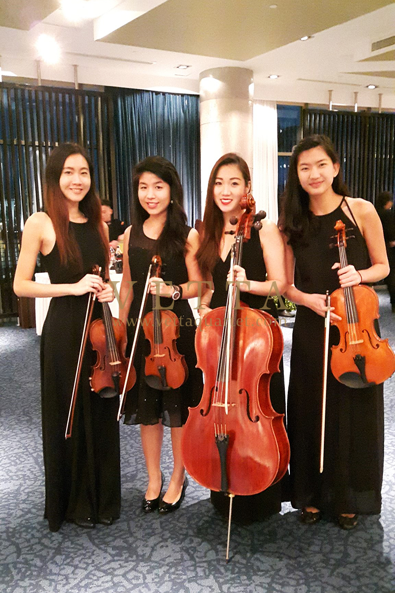Female string Quartet at MSF Farewell Dinner at Singapore Flyer Ballroom