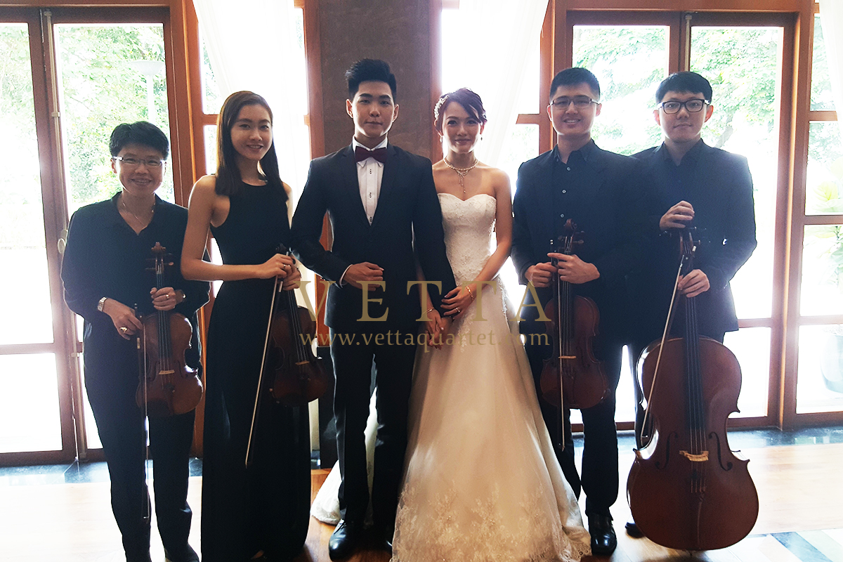 String Quartet for Joshua & Eunice's Wedding at Sofitel Sentosa