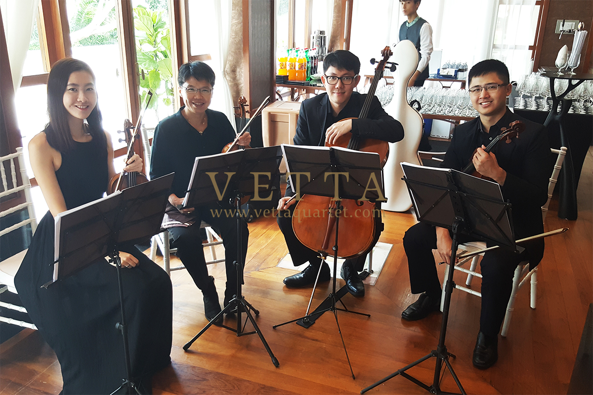String performance for Joshua & Eunice's Wedding at Sofitel Sentosa