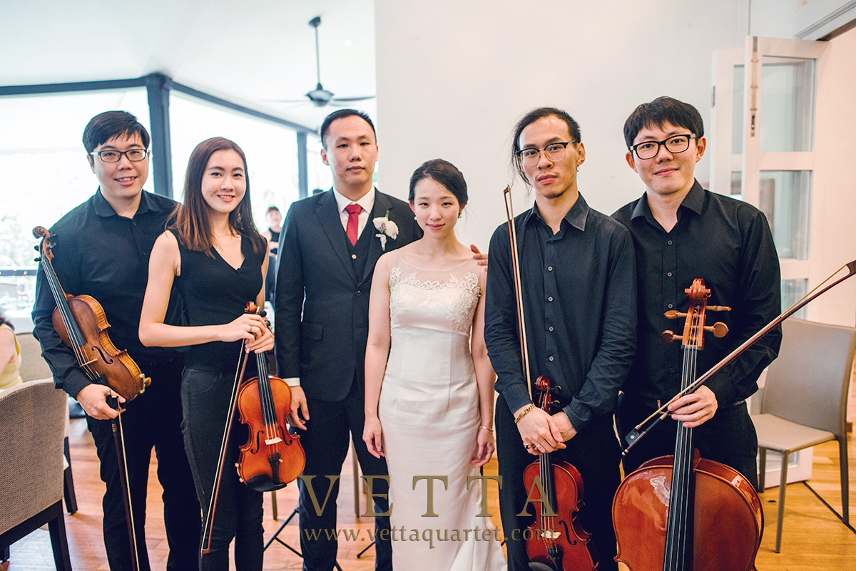 String musicians for wedding at Lewin Terrace