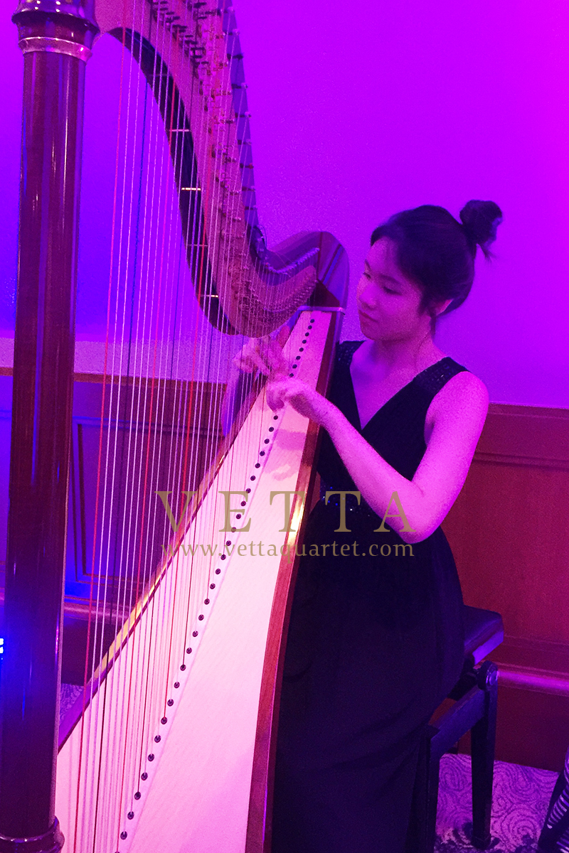 Harpist for Corporate Event at Four Seasons Hotel Singapore, Communique Live Asia