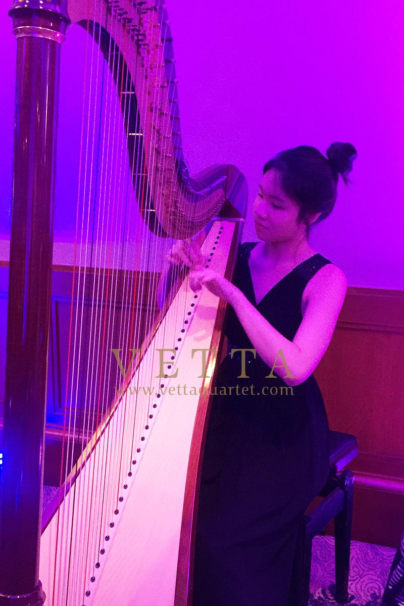 Harpist for Corporate Event at Four Seasons Hotel Singapore, Communique Live Asia