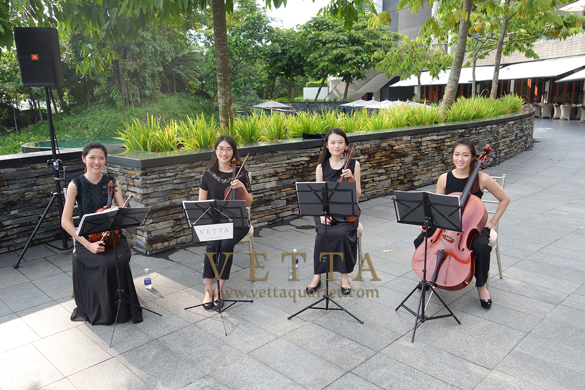 Full Ladies String Quartet for Wedding at Capella