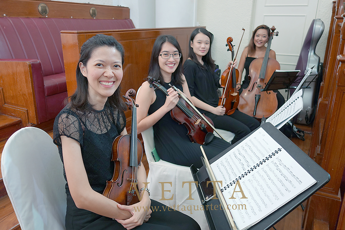 String Quartet for Wedding at Chambers of the Arts House