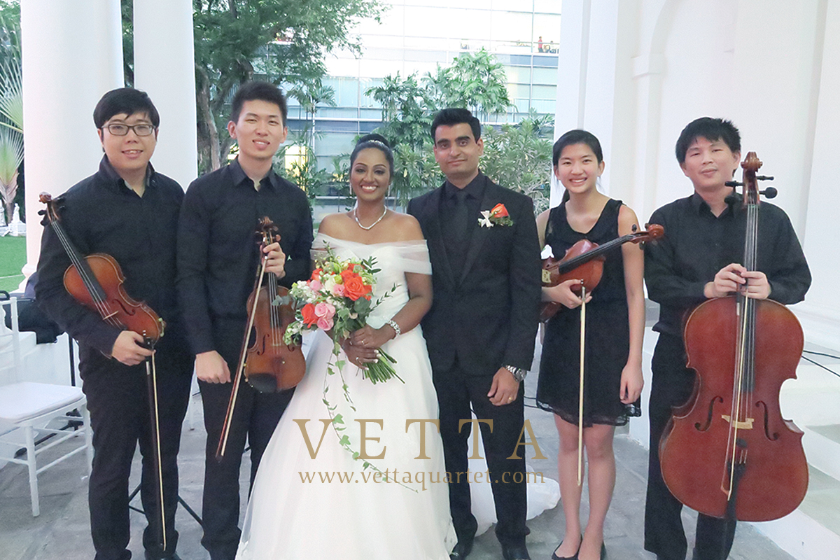Singapore String musicians for Wedding at Armenian Church
