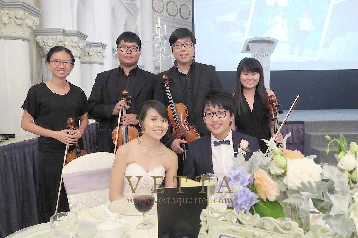 Srting Quartet for Nick & Belle's Wedding at CHIJMES